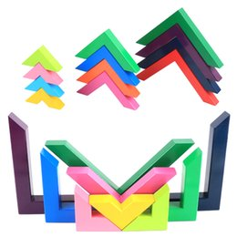 Colourful toys online shopping - Model Building Blocks Beech Wooden Colourful Blocks Kids Educational Learning Right Angle Building Blocks for Children Toys New