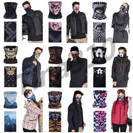 April ring online shopping - New D Seamless Multifunction Skeletons animals Men Skull Ghost Shield Face Mask Headbands Bandana Headwear Ring Head Party Masks I331
