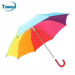 $enCountryForm.capitalKeyWord NZ - Children Rainbow Umbrellas Ultra Light Long-handle Umbrella For Boys Girls Baby Sunny and Rainy Dual Use Kids Umbrella