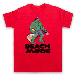 hulk printed t shirts Canada - Beach Mode Gymer Workout Slogan Hulk Muscle Bodybuilding Mens Womens Kids T-shirt Printed T Shirts Short Sleeve Hipster Tee