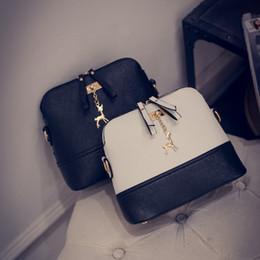 $enCountryForm.capitalKeyWord Canada - Vintage Nubuck Leather Women Bags Fashion Small Shell Bag With Deer Toy Women Shoulder Bag Winter Casual Crossbody Bag SB017