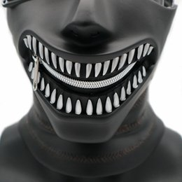 tokyo ghoul masks UK - MostaShow Tokyo Ghouls Latex Head Mask Full Headgear Scary Halloween Christmas Costume Dance Party Masquerades Easter