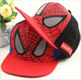 c28137a93bf 2018 New Children Cartoon Spiderman Hats Boys Girls Baseball Caps Outdoor  Leisure Hip Hop Hat Kids Fashion Cap 5pcs lot
