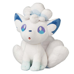 "Discount new dolls - High Quality 100% Cotton 10.6"" 27cm Sun and Moon Alola Vulpix Plush Doll Stuffed Animals Toy Holiday Gifts"