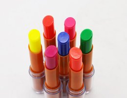 Lip Super NZ - 7 Colors Super Cool Fluorescent Lipstick Glow In The Dark Shiny Party Luminous Lip Stick Gloss Batom Use For KTV Bar Nightclub Lip Makeup