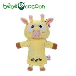 giraffe toys Australia - bebecocoon NEW Unisex Child Kids Cute Plush Velour Lovely Giraffe Animals Hand Puppets Chic Designs Learning Aid Toys Dolls