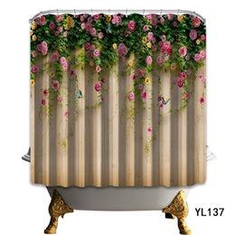2019 Latest Design 3d Christmas Deer 79 Shower Curtain Waterproof Fiber Bathroom Windows Toilet Home & Garden