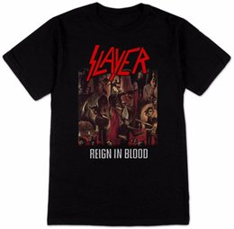 $enCountryForm.capitalKeyWord UK - 100% Cotton Summer T Shirt O-Neck Comfort soft Short Sleeve Mens Slayer Reign In Blood T-Shirt Shirt