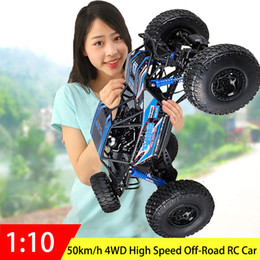 $enCountryForm.capitalKeyWord Australia - 50km h 48CM Hot super large racing 2.4Ghz RC Car 1:10 Scale all Terrain 4WD driving big foot RC Car rock climber off road