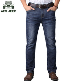 Discount top jeans brands - Men Brand Stretch Jeans Male Yong Man Denim Trousers Men's Slim Fit Straight Jeans Top Quality D90