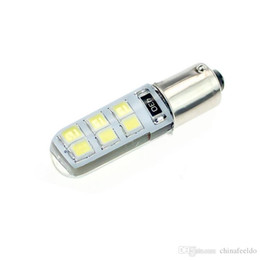 Bulb Case Australia - wholesale White DC12V Car T4W BA9S 12SMD 2835 Chip Silicone Case LED License Plate Bulbs Lamp Door Light #4645