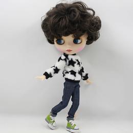 $enCountryForm.capitalKeyWord Australia - ICY FACTORY blyth doll bjd neo black short hair joint body matte frosted face 70BL950 gift souvenir toy 1 6 30cm