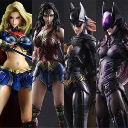 DC Justice Alliance Pa Change Bat Femme Superman Femme Magique Femme Chivalrous Peut DIY Faire Poupée Modèle Jouets Cadeau Livraison gratuite en Solde