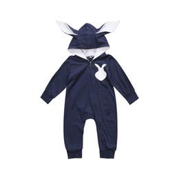 $enCountryForm.capitalKeyWord Australia - Newborn Baby Boys Girl Boy 3D Ear Rabbit Rompers Cotton Zipple Bebe Boys Girls Kids Children Jumpsuit Romper Clothes