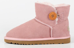 b6c76a06ca7 Australiano manter quente clássica de couro genuíno de pele de lã de couro  forrado Ankle Boot camurça mulheres inverno U99 botas de neve US5-10