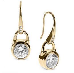 $enCountryForm.capitalKeyWord Australia - Hook Earrings Gold Fashion Brand Crystal Dangle Earrings Studs Diamond Zircon Earrings Wedding Jewelry for Women Rose Gold Gold Silver
