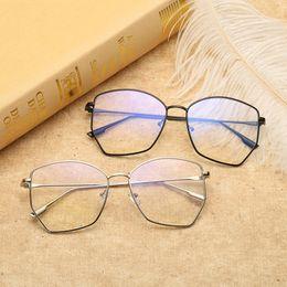 c5757cc7d2f Vazrobe Polygon Glasses Frame Men Women Vintage Eyeglasses Male Nerd Points  for Myopia Prescription Spectacles Optical Eyewear