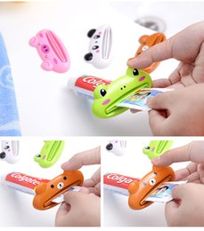 Two piece baThroom online shopping - Cute Animal multifunction squeezer toothpaste squeezer Home Commodity Bathroom Tube Cartoon Toothpaste Dispenser Extruder WS