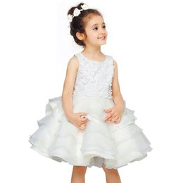 $enCountryForm.capitalKeyWord UK - High-grade new girls formal wedding banquet dress Stereo white flowers girls dress ceremony princess Baby girl's clothes
