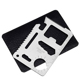 China 11 In 1 Multi Tools Hunting Camping Survival Pocket Knife Credit Card Knife Stainless Steel Outdoors Gear EDC Tools supplier pocket edc gear suppliers