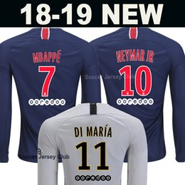 18 19 PSG Long Sleeve Soccer Jersey Paris MBAPPE CAVANI full saint germain  DANI ALVES third away 2018 2019 Thailand quality football shirt 4459f7436