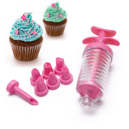 cake decorating icing pens NZ - Deco Icing Pen Cake Decorating Tools Nozzles Set Piping Cream Syringe Tips Muffin Dessert Decorators With Pastry Bag Coupler Tip