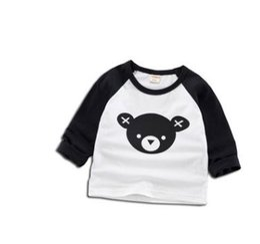 8d35cd58f Cartoon Print Baby Boy T-shirt 2018 Spring Autumn Korean Long Sleeve  Children's Pullover Baby Clothes Girl Hoodies SY-F183005