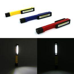 Flashlight Pens Wholesale Australia - Mini COB LED Flashlight Multi-purpose Emergency Working Light Magnet Pocket Clip-on Super Bright Camping Pen Light Torch Lamp Nightlight