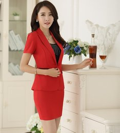 $enCountryForm.capitalKeyWord Canada - New Professional Formal Uniform Design Career Suits With Jackets And Skirt Ladies Office Work Blazers Outfits Sets