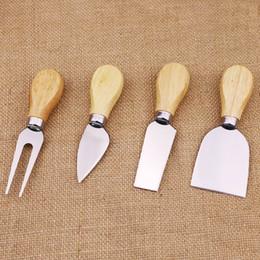 $enCountryForm.capitalKeyWord Australia - Cheese Useful Tools Set Oak Handle Knife Fork Shovel Kit Graters For Cutting Baking Chesse Board Sets 4pcs set