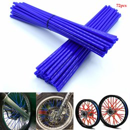 motorcycle spokes UK - For Motorcycle Dirt pit Bike Wheel Rim Spoke Skin Cover Wrap Tube Decor Protector for KTM SX EXC MXC 250 300 400 450 520 525