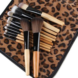 $enCountryForm.capitalKeyWord Australia - MAANGE 12 PCS Makeup Brush Set Power Foundation Cream Blush Eyeshdow Sexy Leopard Print Bag Beauty Brushes Cosmetic Tool kits