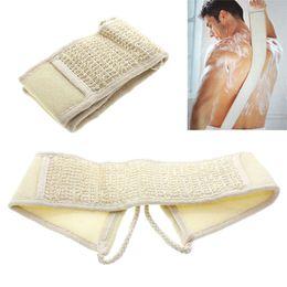 $enCountryForm.capitalKeyWord Australia - Shower Bath Brush Cotton and Linen Strap Massage Sponge Skin Body Wash Sponge Body Brushs Skin Health Cleaning Scrubber