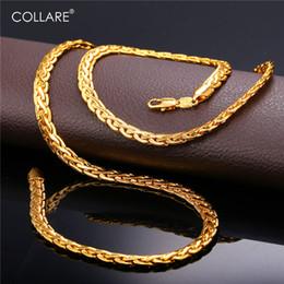 Collar cobra cadeia de ligação para homens de ouro / preto / rosa de ouro / cor de prata colar de cadeia africano homens atacado jóias n215 venda por atacado