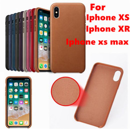 Thin Original Leather Cases For Iphone Australia - for iphone XR XS max Xs Original Genuine Leather Case Thin Back Cover for iphone with retail box