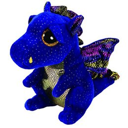 "Chinese  Ty Beanie Boos 6"" 15cm Saffire Dragon Plush Regular Stuffed Animal Collectible Soft Doll Toy manufacturers"