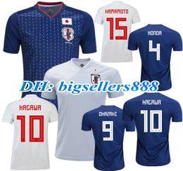 fdce23f9fb2 TOP QUALITY Japan 2018 World Cup KAGAWA home blue soccer jersey OKAZAKI  HASEBE NAGATOMO HARAGUCHI KIYOTAKE 18 19 Japan away football shirts