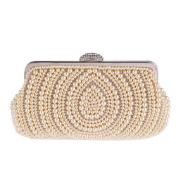$enCountryForm.capitalKeyWord UK - 2019 Women's Evening Bag Craft Pearl Beads Clutch Bag Purse Wedding Bags With Shoulder Chain Day Clutches XST-B0020
