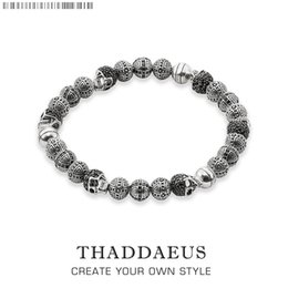 $enCountryForm.capitalKeyWord NZ - Rebel Skull Cross Beads Bracelets,Thomas Style Bracelet Jewerly For Men,Link At Heart Gift In Silver & Zirconia,Wholesale Price S915