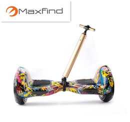 Smart Sports de plein air Hoverboard Skateboard Scooter Extensible Portable Pull Trolley 2Wheel Auto-équilibrage Scooter Tie Rod