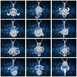 $enCountryForm.capitalKeyWord Australia - 12 Constellations Classic Necklace Pendant Female Lovers Confidante Girl Friend Charm Arts Crafts Wedding Favors For Guest Gift 2 3cy bb