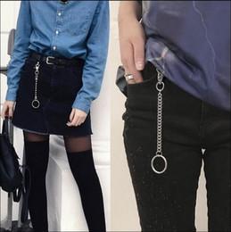 $enCountryForm.capitalKeyWord NZ - Men's Waist Key Chain Silver Heavy Rock Metal Hip Hop Gothic Punk Style Pants Trousers Jean Biker Wallet Key Ring