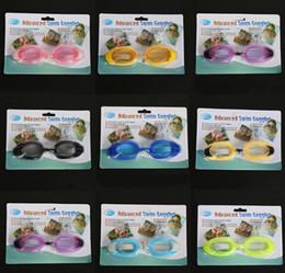 toy goggles 2018 - 8 Color Anti-Fog Swim Goggles Kids Children Baby Boys Girls Adjustable Swimming Goggles Anti-fog Swim Glasses LC836 chea