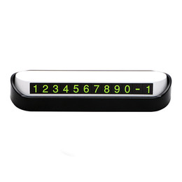 numbers stickers decals NZ - Car Temporary Parking Card Rocker Switch Car Styling Auto Stickers and Decals Phone Number Parking Plate Accessory Drawer Style
