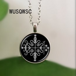 Voodoo pendant online shopping - WUSQWSC Fashion daddy legba voodoo pendant ritual altar pendant occult locket NECKLACE jewelry
