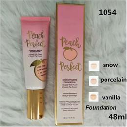 Vente en gros Dropshipping Fond de teint tiède Fond de teint Peach Perfect Matte Foundation 3colors 48ml Crème pour le visage Fond de teint Haute Qualité