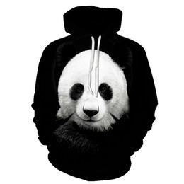 Wholesale sweatshirt hoodies panda online – oversize Cute Panda Printed D Hoodies Unisex Sweatshirts Men Women Coats Hooded Hoodie Autumn Winter Animal Tracksuits Fashion Pullover