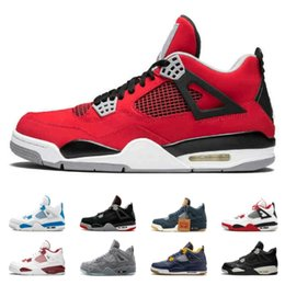 spring shoes discount NZ - Toro Bravo Game Royal 4 4s Top Basketball Shoes For men Oreo Fear Pack University Red Athletics Discount Sneakers US 8-13