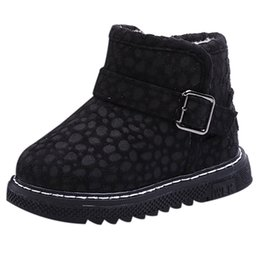 toddler fashion boots brown UK - Winter Autumn Children Boots Fashion Kid Girls Warm Leopard Flat Martin Short Boots Shoes Sneakers toddler girl shoes