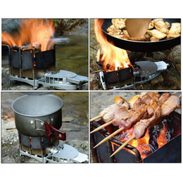 $enCountryForm.capitalKeyWord Australia - New High Quality Portable Wood-burning Stove Foldable wood Furnace Bbq Barbecue Grill Outdoor Stove Camping Picnic Hiking Tool